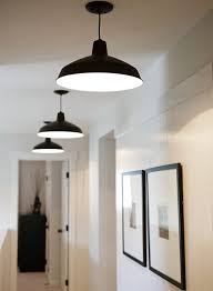 love the clean simplicity warehousebarn pendant lighting and set of thin black framed best lighting for hallways