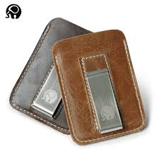 <b>Wholesale</b> Genuine Leather Money Clip <b>Metal Men</b> Card Pack Slim ...
