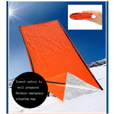 <b>1pc Outdoor</b> First aid Survival <b>Emergency</b> Tent Blanket Sleep Bag ...