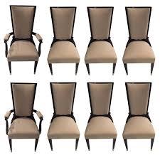 french art deco set deco set ebonized mahogany dining french art art deco mahogany framed office chair