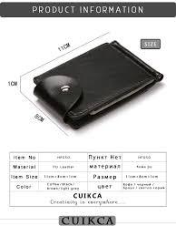 CUIKCA South Korea Style <b>Money Clip Men Wallet</b> Purse Ultrathin ...