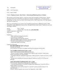 best photos of email resume examples sample sending resume by email to recruiter sample resume