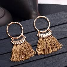 2019 Fashion <b>bohemian</b> tassel earring <b>Ethnic boho</b> golden <b>small</b> ...