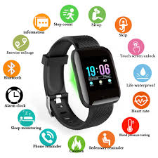 116 Plus <b>Smart Watch</b> Blood Pressure Waterproof Smartwatch ...