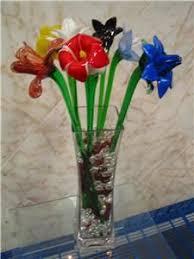 Long Stem <b>Glass Flowers</b> | Details about <b>Murano Glass Flower</b> Long ...