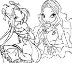 Раскраска про девочек онлайн