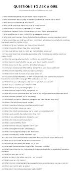 questions to ask a girl the only list you ll need list of questions to ask a girl