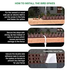 Defender Spikes, Upgraded <b>Bird</b> and Cat <b>Repellent</b> for <b>Pigeon</b>, Cat ...