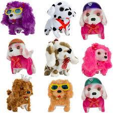 <b>Cute Walking</b> & <b>Barking</b> & Wags Tail & Nod Electronic Plush Puppy ...