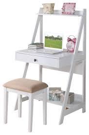 2 piece big drawer storage shelf desk set white contemporary kids desks charming kids desk