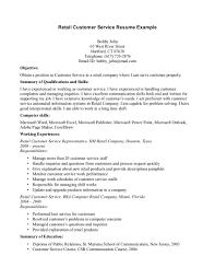 example customer service representative resume example of customer customer service skills resume example sample resume example retail resume example customer service representative resume examples