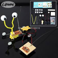 Kids <b>DIY</b> Science Experiment <b>Electric</b> Remote Control Wood Robot ...