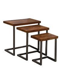 Emerson Nesting Tables - <b>Set of 3</b> - <b>Natural</b> Sheesham