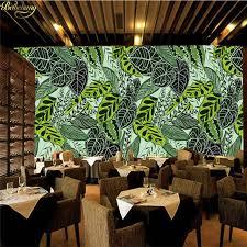 <b>beibehang Custom wallpaper</b> large mural wall stickers retro <b>tropical</b> ...