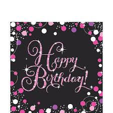 <b>Pink</b> Sparkling Celebration Happy Birthday <b>Party Supplies</b> | Party City