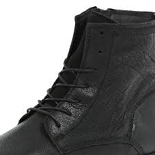 river island black leather smart worker boots in black for men lyst gallery