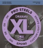 <b>DAddario</b> XL ProSteels Bass 40-100 (<b>EPS190</b>) – купить <b>струны</b> ...