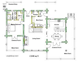 to sq ft    Taron Design Inc  Log Home PlansMain Floor Plan