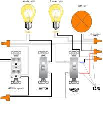 code bathroom wiring: bathroom wiring diagram detail simple free example