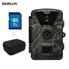 boblov hunting camera 16mp trail night version ip65 wildlife surveillance
