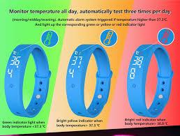 V9 <b>Smart Temperature Measurement Bracelet</b> Intelligent Vibration ...