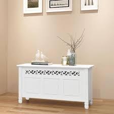 White <b>Baroque Style Storage Bench</b> – Novielo London