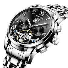 <b>KINYUED</b> JYD-J014 Stainless Steel <b>Automatic Mechanical</b> Watch ...