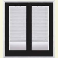 patio doors with blinds between the glass: prehung mini blind steel patio door with brickmold in vinyl frame