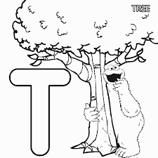 Small Picture ABC letter T Tree Sesame Street Cookie coloring page