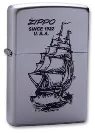 <b>Зажигалка ZIPPO Boat-Zippo</b> Satin Chrome, латунь с ник.-хром ...