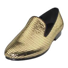 <b>Harpelunde Men</b> Gold <b>Leather Dress</b> Wedding Shoes New Arrival ...