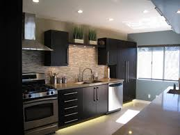 black and stainless kitchen black wooden kitchen with beautiful contemporary kitchen cabinets from wooden with black wooden kitchen cabinet and nice dawnlight also brick stone wall theme kitchen picture contemporary kitchens