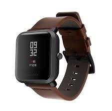 <b>Amazfit</b> BIP / Lite Genuine <b>Leather Straps</b> (Brown) - <b>20mm</b> - invella