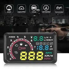 <b>W02</b> HUD Auto Head Up Display Film <b>5.5Inch</b> Windshield OBD2 Car ...