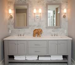 coastal casual beach style bathroom idea in minneapolis with gray cabinets bathroom magnificent contemporary bathroom vanity lighting style
