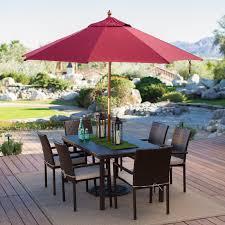 ft steel umbrella patio sun shade market belham living  ft wood commercial grade sunbrella market umbrella pati