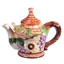 """Домики <b>Чайник заварочный</b>, <b>керамика</b>, <b>300мл</b>, """"Виноградная ..."""