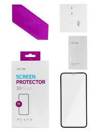 10% <b>vlp Защитное</b> 3D <b>стекло vlp для</b> iPhone 11 с черной рамкой