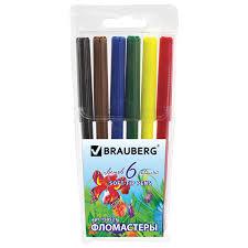"Купить <b>Фломастеры BRAUBERG</b> ""<b>Wonderful butterfly</b>"", 6 цветов ..."