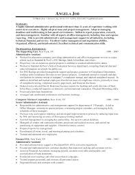 nice sample of senior administrative assistant resume with related samples to nice sample resume templates for administrative assistants