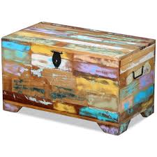 vidaXL <b>Storage Chest Solid Reclaimed</b> Wood Sale, Price & Reviews ...