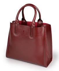 <b>Genuine Leather</b> Dark Red <b>Shoulder Bag</b> - St. Jude Gift Shop