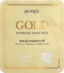 Petitfee <b>Гидрогелевая маска для</b> лица с золотом, 32гр — купить в ...