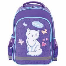 <b>Рюкзак ПИФАГОР SCHOOL</b> для начальной школы, «<b>WHITE</b> CAT ...