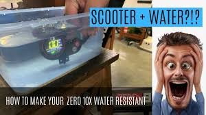 HOW TO: MAKE YOUR ZERO 10X <b>WATER RESISTANT</b> - YouTube