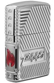 <b>Armor</b> High Polish Chrome Zippo 29672 <b>Bolts</b> Design