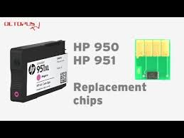 HP 950, HP 951 replacement chip for refilled cartridge - YouTube