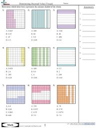 Decimal WorksheetsDetermining Decimal Value (Visual) worksheet ...