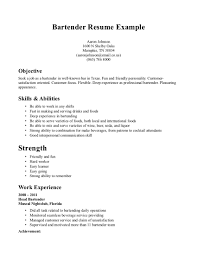 bartending resumes sample job and resume template bartending resume template creative sample