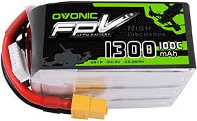 <b>Ovonic</b> 1300mAh <b>22.2V</b> 6S <b>100C</b> Lipo Battery with XT60 Plug for ...